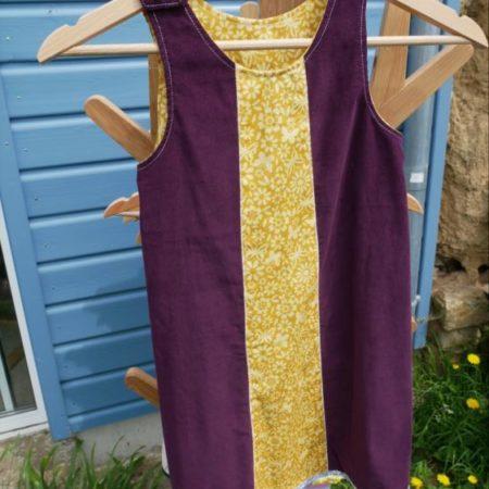 robe trapèze en velours 6 ans