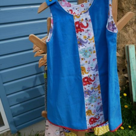 robe trapèze velours 4 ans