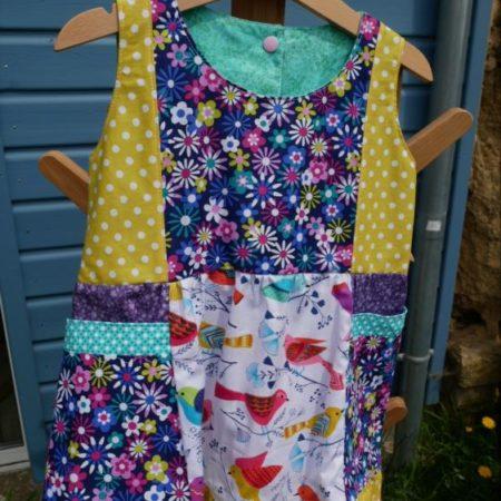 robe colorée à poches 3 ans